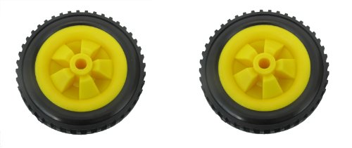 PAIR 146mm trolley /fishing trolley / wheels with solid tractor tyre made in uk