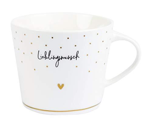 Grafik Werkstatt Kaffee-Tasse mit Echtgold | Porzellan Tasse | 420 ml | Lieblingsmensch
