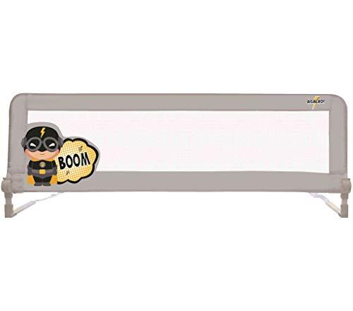 Barrière de lit Baby Fox 150 cm Collection 'Captain' - Gris