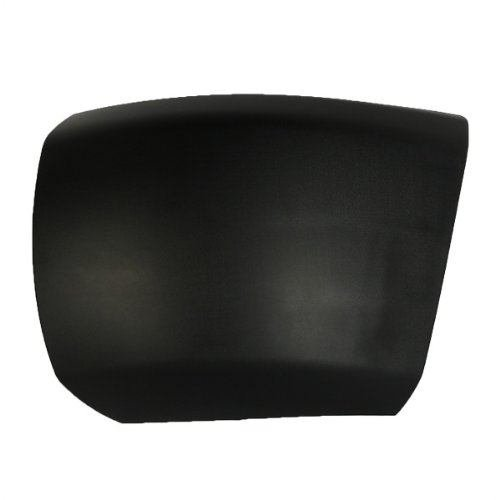 CarPartsDepot, Driver Side Front Bumper End Side Cover Matte Black Without Fog Lamp Hole LH, 355-15102-11 GM1004146 15838397