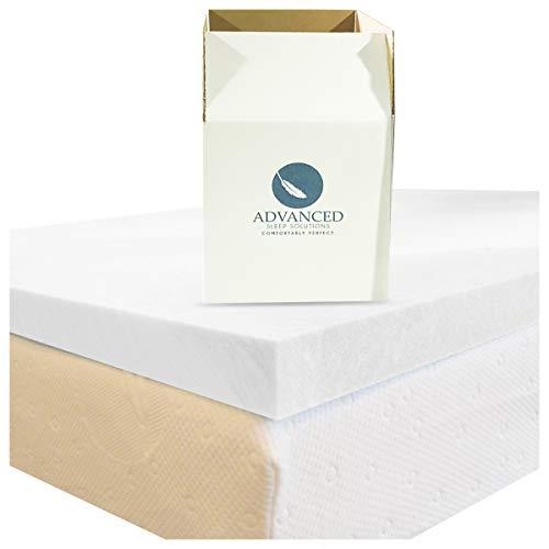 Advanced Sleep Solutions Queen Memory Foam Mattress Topper