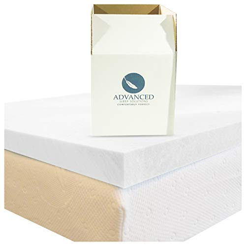 Advanced Sleep Solutions Queen Memory Foam Mattress Topper | Our 2 Inch Memory Foam Topper...