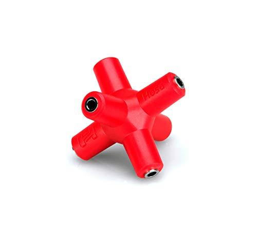 Hosa GMM-105 3.5mm 1-to-5 Knucklebones Signal Splitter Red