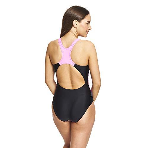 Zoggs Empower Actionback - Traje de baño de una Pieza para Mujer, Mujer, 155620032, Multi/Negro, 32-Inch/UK 8