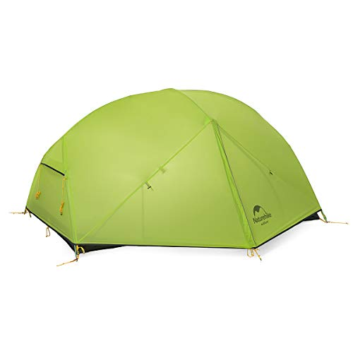Naturehike Mongar 2 Person Backpacking Tent 3 Season Free-Standing Lightweight Hiking Tent for Outdoor Activities