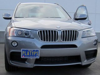 CravenSpeed Platypus License Plate Mount for BMW X3 2011-2017 | No Drilling | Installs in Seconds | Made of Stainless Steel & Aluminum | Made in USA