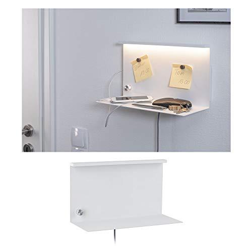 Paulmann 78916 LED Wandleuchte Jarina mit Ablage incl. 1x4,5 Watt dimmbar Wand-Leselampe Weiß Leseleuchte Metall Wandlampe 3000 K, 4.5 W