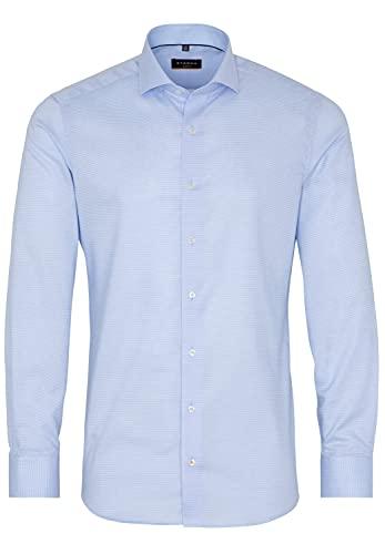 ETERNA Langarm Hemd SLIM FIT Stretch strukturiert,42 Langarm, hellblau