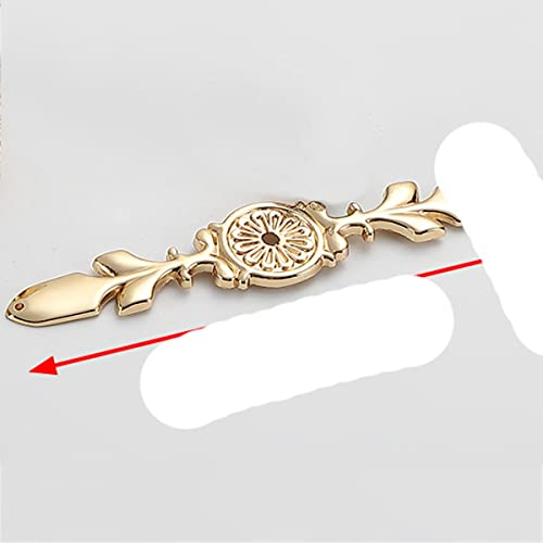 Manijas de cristal de diamante de lujo Caja de zapatos Manijas de gabinete Armario Tocador Perillas de cajón Tiradores de armario Tiradores Herrajes para muebles-Placa de oro 170 mm