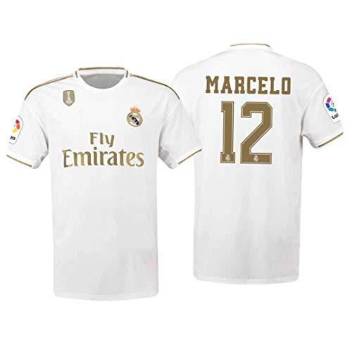 S&K Sports Marcelo Real Madrid Weiß,Maillot Marcelo Trikot 2019/20 für Herren & Jungen(Weiß,M)