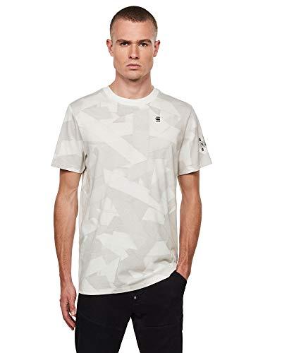 G-STAR RAW Mens AOP T-Shirt, cool Grey Tape camo C334-B873, XX-Large