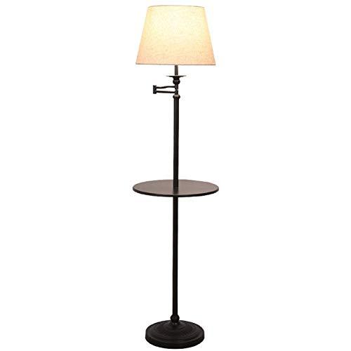Lámpara LED pie, Protección de Ojos LED pie Creativa con Bandeja de Almacenamiento pie Estudio Dormitorio Vertical Nivel de energía de la luz de lectu