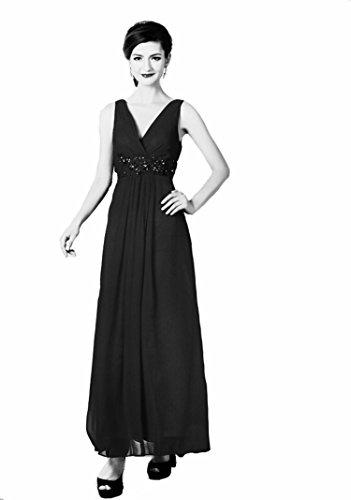Lautinel Chiffon Abendkleid Ballkleid Festkleid lang Destiny schwarz Gr. 38
