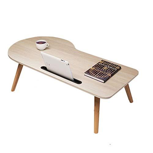 GL-Computer Desk Mesa Plegable Mesa portátil Plegable Diseño de Arco portátil con Tableta Ranura para teléfono Escritorio Grande Lazy Learning Escritorio pequeño (Color: Troncos, tamaño: 100x40x33cm)