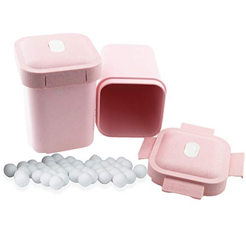 Pie Weights for Baking Reusable Crust & Pastry Ceramic Pie Crust Weights 10 mm Natural Food Grade Baking Beans Stoneware Beads Pastry Utensils with pink Container (500g)