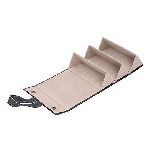 Demeras SunglassGlasses Vitrina portátil con 3 Ranuras para Gafas de Sol Estuche de Almacenamiento para Oficiales Estudiantes para Adultos(Negro)