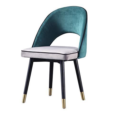 Dining chair Silla simple escritorio para estudiantes y silla de maquillaje taburete de computadora para el hogar duradero (color verde)