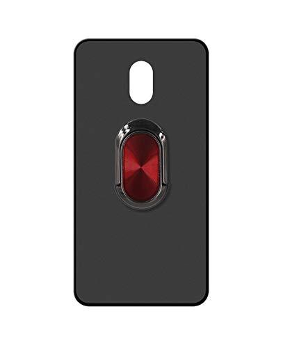 Sunrive Kompatibel mit Meizu M3 Max Hülle Silikon, 360°drehbarer Ständer Ring Fingerhalter Fingerhalterung Handyhülle matt Schutzhülle Etui Hülle (A4 Rot schwarz) MEHRWEG
