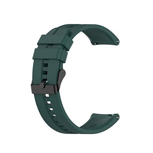 LXF JIAJU para GT2 Pro Correa Silicone Wamkband para Huawei Watch GT 2 GT 46mm / GT 2E / Honor Magic Band Sport Brazalet 22mm Pulsera (Color : 11 Dark Green, Size : 22mm)