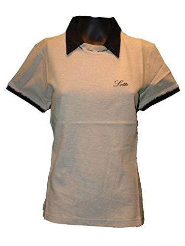 Lotto T-Shirt Barbara B, Femme, Beige mélangé/Noir L Beige Meliert/SCHW