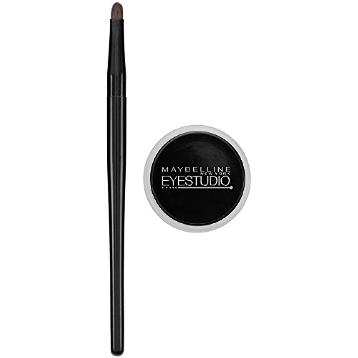 急襲贅沢大胆MAYBELLINE Eye Studio Lasting Drama Gel Eyeliner - Blackest Black 950 (並行輸入品)