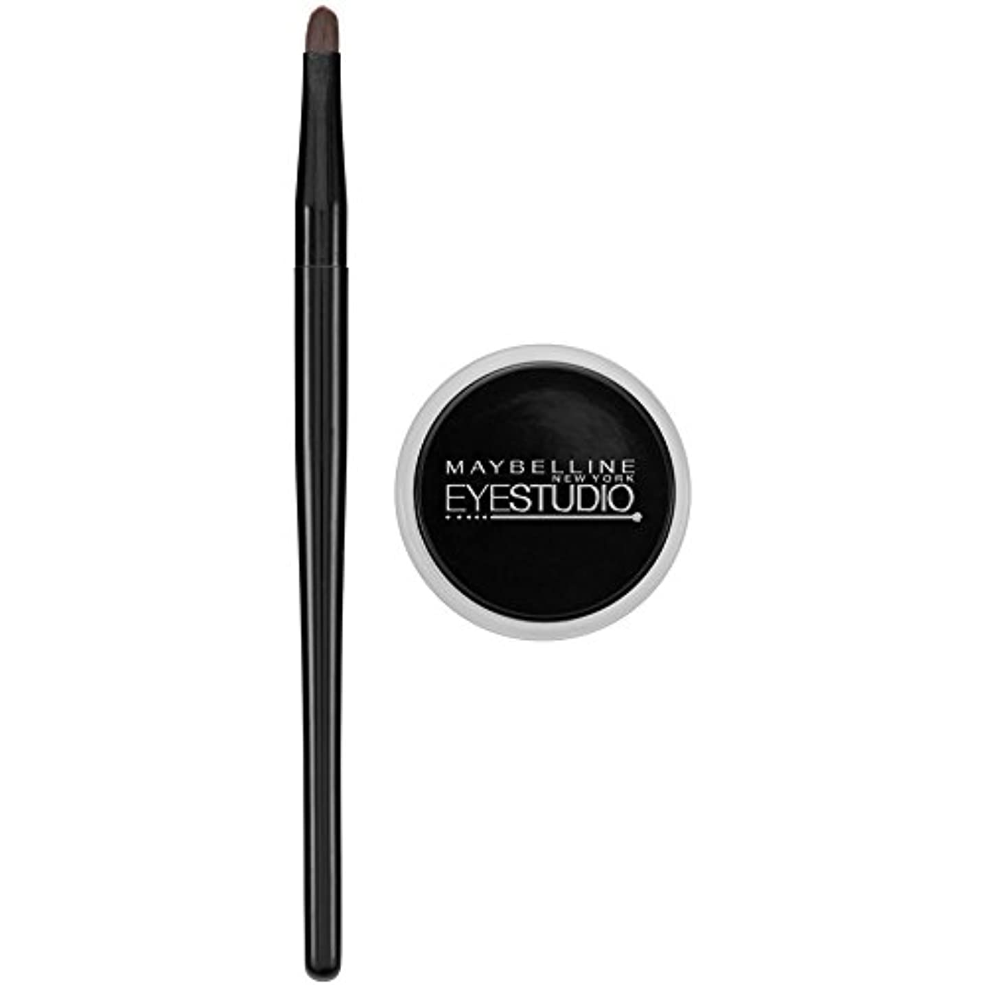 光沢増加する空洞MAYBELLINE Eye Studio Lasting Drama Gel Eyeliner - Blackest Black 950 (並行輸入品)