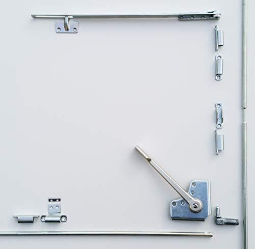 Dreh-Kipp-Beschlag DK17 MINI silber zum Aufschrauben Drehkipp Beschlag zum Nachrüsten