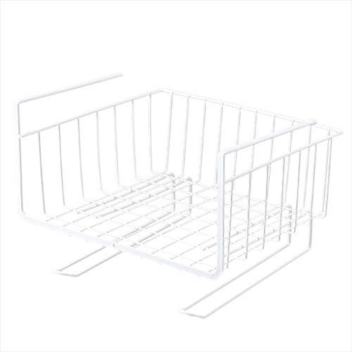 LHn-Cn Estanteria Cocina Pared, Estante Hierro Forjado - (Blanco) Almacenamiento De Armario Almacenamiento En Capas,para Cocina/Dormitorio/Baño