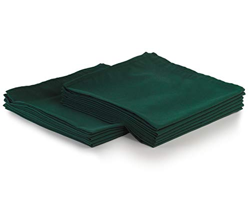 Yourtablecloth Cloth Dinner Napkins100% Spun Polyester with Hemmed Edges 20x 20 Set of 12 (Forest Green)