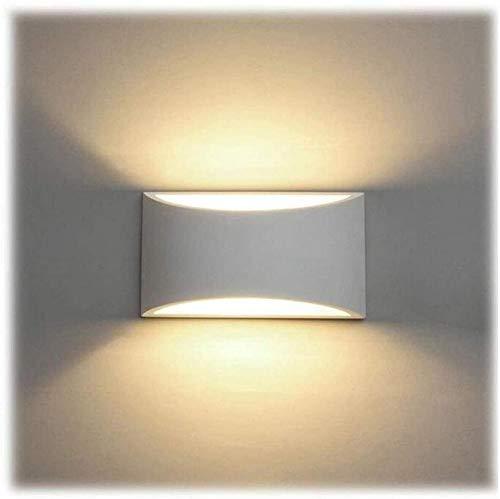 YAYY LED wandlamp binnen 7W witte gips lamp modern design wandlamp LED-lamp boven- en onderste wandlamp spot licht warmwit badkamer woonkamer slaapkamer gang (upgrade)