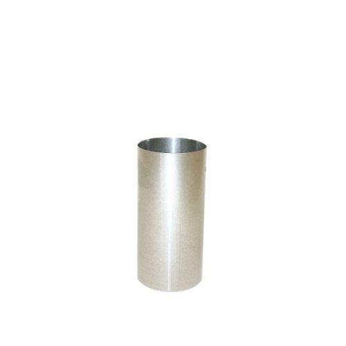 Kamino Flam Ofenrohr silber, feueraluminiertes Rauchrohr aus Stahl für sichere Ableitung von Verbrennungsgasen, rostfreies Kaminrohr, geprüft nach Norm EN 1856-2, Maße: L 250 x Ø 100 mm