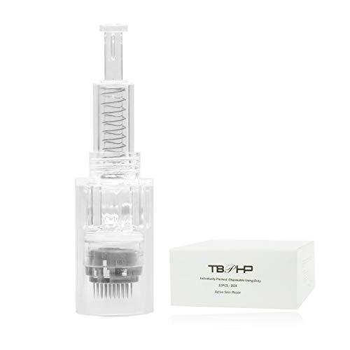 TBPHP Dermapen 42 Nadelpatrone Microneedling,10 sterile Nadelmodule,einzeln verpackt, Für Auto Electric Derma pen Derma Roller Gerät(Thread-Slot-Patronen)