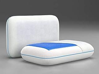 Sleep8 Almohada viscoelástica Cervical S8 Gel Classic - 40 x 60 x 12 cm - Cojín de Cuello EcoGel, termoregulable con firmeza Media Alta, hipoalérgenica y Espuma elástica con Memoria