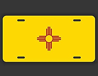 JMM Ind. New Mexico State Flag NM Vanity Novelty License Plate Tag Metal Car Truck 12-Inches by 6-Inches UV Resistant Print UVP006