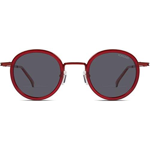 Komono dames zonnebril CLOVIS, maat: ONESIZE, kleur: rood, kleur:SCARLET
