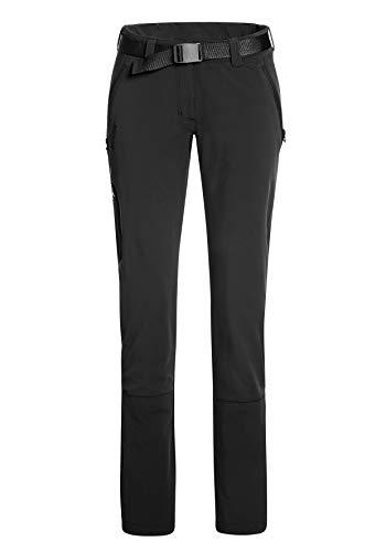 maier sports Lana Slim - Pantalones para Mujer, Mujer, Pantalones de Trekking, 232022, Negro, 24