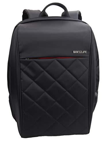 Best Life Travelsafe Rucksack, 46 cm, 23 Liter, Schwarz + Rot