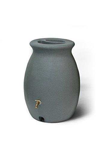 Algreen Products Castilla Rain Barrel 50-Gallon, Charcoalstone