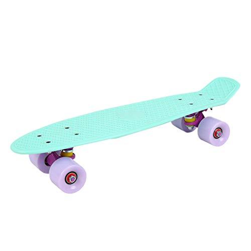 Nobran Skateboards,Original Vintage Retro Cruiser Skateboard für Kinder und Erwachsene auch Anfänger ab ca. 6-10 Jahre | 57x15cm Kinderskateboard Retroboard (Grün)