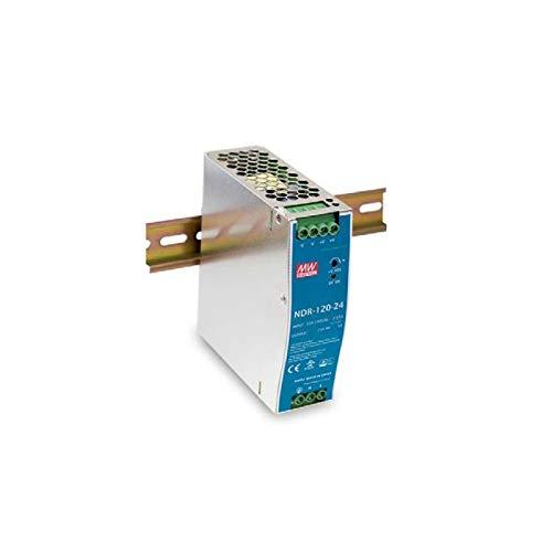 MeanWell NDR-120-12 - Transformador de carril industrial 12 V 120 W 10 A barra guía DIN Rail Power Supply universal