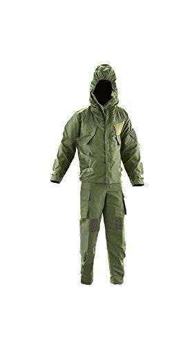 NBC CBRN-NATO Mk4 Schutzanzug für nukleare, biologische und chemische Kriegsführung Britische Armee Oliv-Grün Vakuum-verpackt, Mk4 190/108 - 190cm Tall/ 108cm Waist