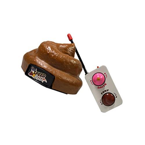 STOBOK Scherzartikel Kacke Poop Fernbedienung Plastik Realistische Kackhaufen Neuheit Unfug Spielzeug OHNE Akku Karneval Halloween Party Deko
