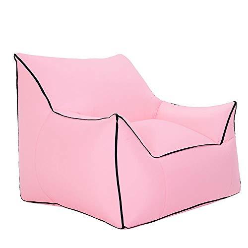 BRFDC Lazy Sofa Meditationsstuhl Outdoor aufblasbares Sofa | Freizeit tragbarer Sitz | Schwimmbad Strand Sonnenbad Sofa | Freie Luftpumpe | Tragfähigkeit 200kg | 80 × 95 × 80 cm (Farbe : Pink)