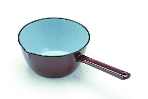 IBILI Stielkasserolle konisch 12 cm aus emailliertem Stahl in braun