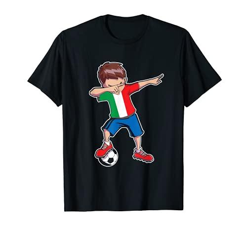 Italia Maglia Tifoso di Calcio Dabbing Ragazzo Maglietta