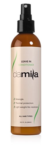 Keratin Leave In Conditioner - Best Leave-In for Damaged Hair. Repairs and Provides Heat Protection for hair - Excellent Detangler Spray - 8.11 Oz (240 ml) by Damila