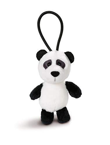 NICI 43613 Anhänger Panda mit elastischer Schlaufe, 8 cm, weiß/schwarz