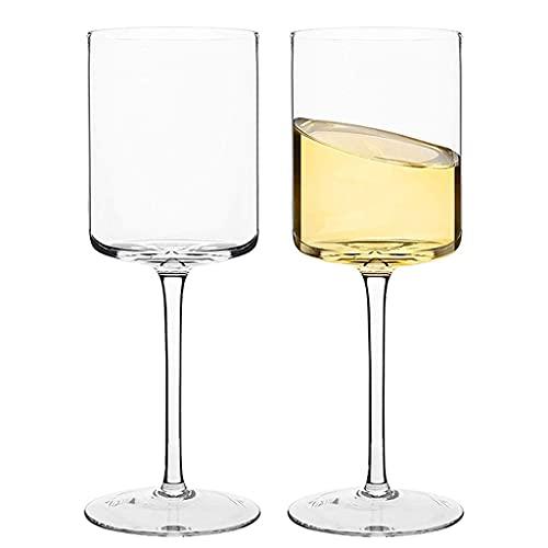 Calice di Cristallo 2 Bicchieri da Vino Rosso Dritto personalità Europea E Americana Bicchieri da Champagne Senza Piombo Bicchieri da Coppia 480ML (Color : Clear, Size : 480ML*2)