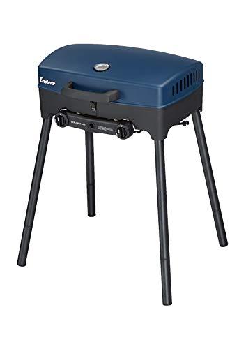 Enders® Camping Gasgrill EXPLORER NEXT, Grillen-, Kochen- und Backen Funktion, 2 Brenner Edelstahl, kleiner Grill, Balkon-Picknick-Camping-Grill mit Aluguss-Grillwanne #2103