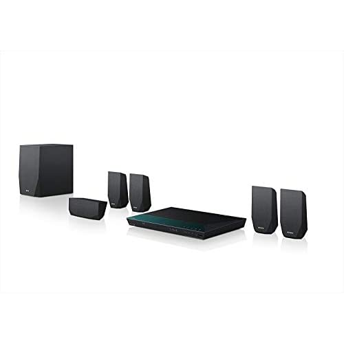 Sony BDV-E2100 Sistema Home Cinema Full HD 3D, 5.1 Canali, Potenza 1000W, Lettore Blu-Ray 3D, Wi-Fi, Bluetooth, NFC, Antenna FM, Nero